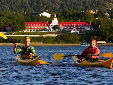 Kayaking in Tadoussac Bay