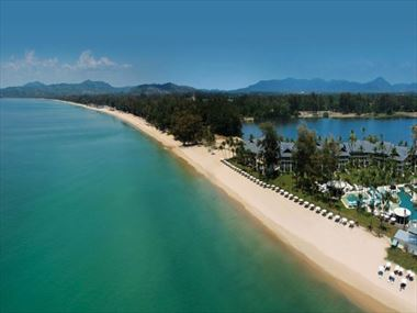 Aerial view of Outrigger Laguna Phuket Beach Resort