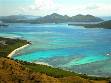 Aerial view of Yasawa Islands, Fiji