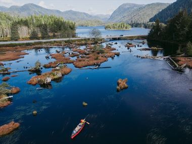 Canoeing near Prince Rupert