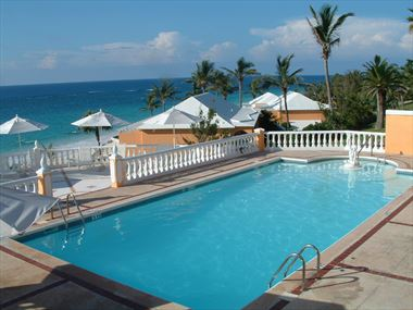 Coco Reef swimming pool with ocean views