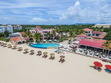 Aerial view of Frangipani Beach Hotel