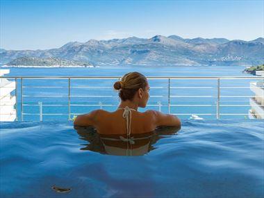 The jacuzzi at Lafodia Sea Resort