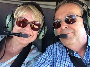 Linda and Len Helicopter Ride