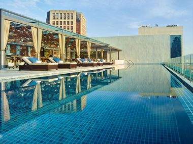 Rooftop Pool at Hotel Stripes, Kuala Lumpur