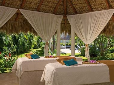 Outdoor massage cabin at Secrets Royal Beach Punta Cana