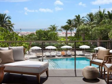 Overlooking the pool, SLS South Beach