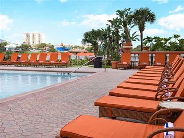 Sun loungers, Westgate Palace Resort