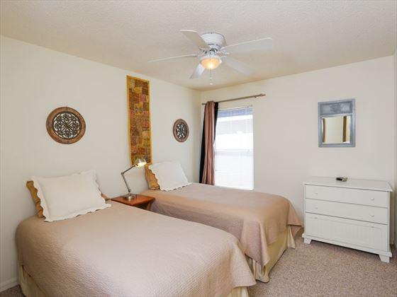 Typical Bradenton Sarasota Area Home -Twin bedroom