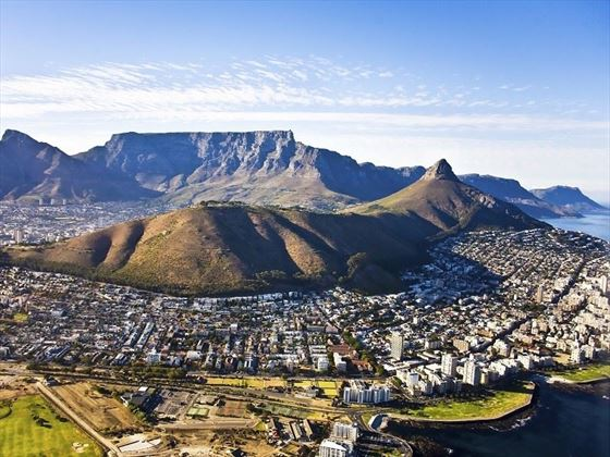 Cape Town Aerial View of Table Mountain