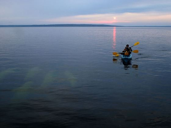 Kayaking in the summer, Churchill