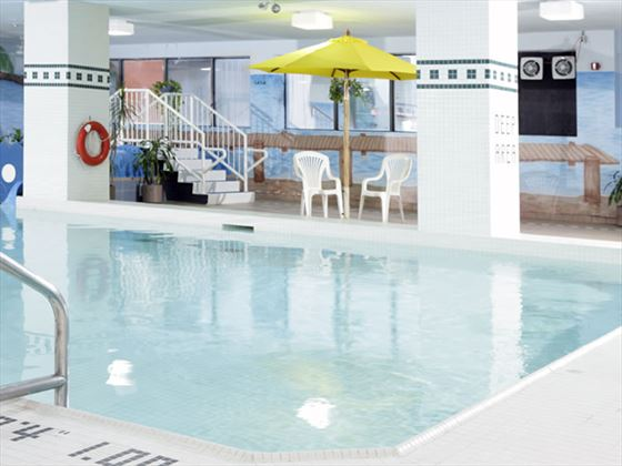 The indoor pool at the Easton Chelsea Toronto