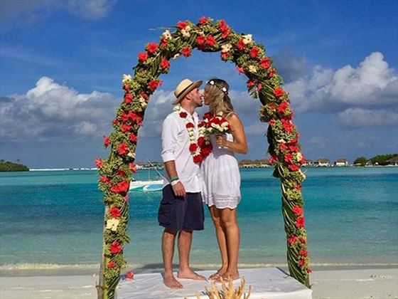 Beautiful & colourful vow renewals on Cinnamon Dhonveli Maldives