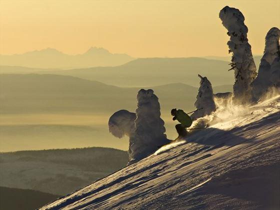 Downhill skiing at Sun Peaks Resort, Kamloops