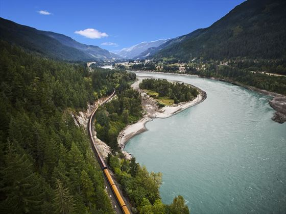 Fraser Canyon near North Bend, Rocky Mountaineer