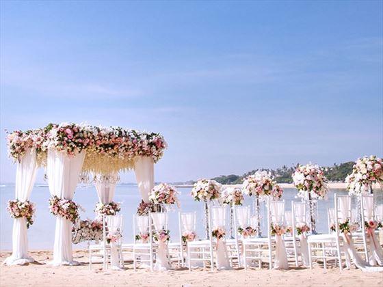 Weddings, Bali style at the Melia Bali