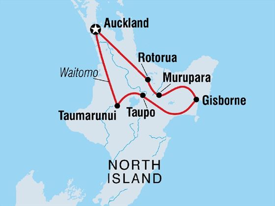 North Island Discovery 7-day tour