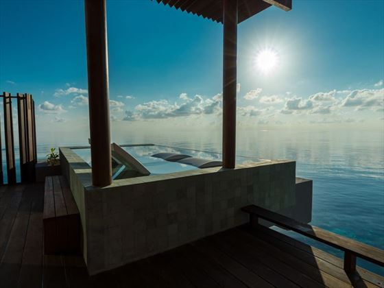 Park Sunset Ocean Pool Villa balcony