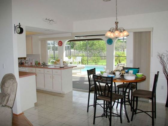 Example of a Port Charlotte Area Home - Kitchen and Dinign Area