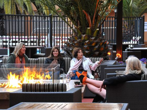 Hotel Zephyr courtyard garden