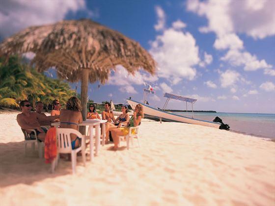 Group on the beach, Cozumel