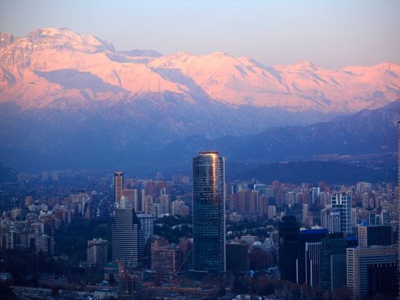 Santiago at dusk
