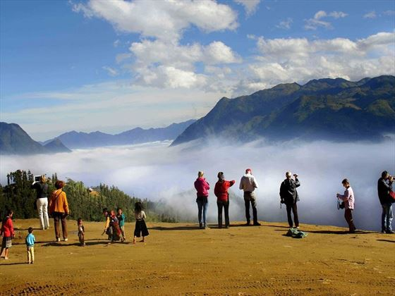 Sapa views over the mountainside