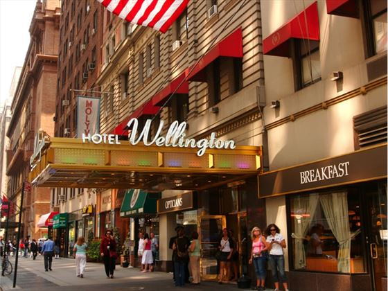 The Wellington Hotel exterior, New York