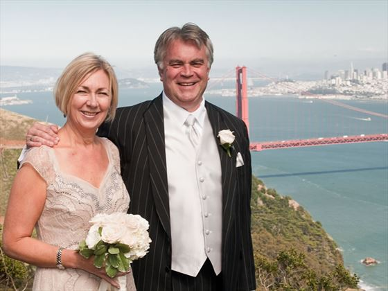 Wedding by the Golden Gate Bridge