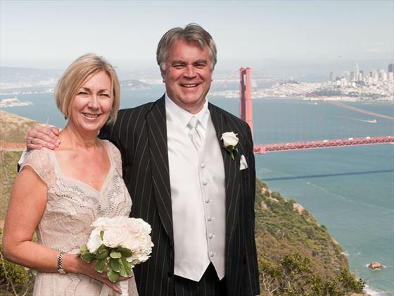 Wedding by the Golden Gate Bridge
