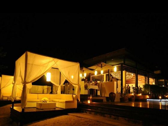 Aava Resort & Spa at night