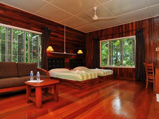Bedroom at Abai Jungle Lodge, Borneo