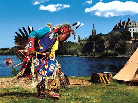 Aboriginal voyageur, Ottawa