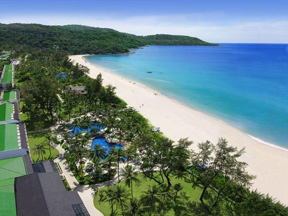 Aerial Beach View, Katathani Phuket Beach Resort