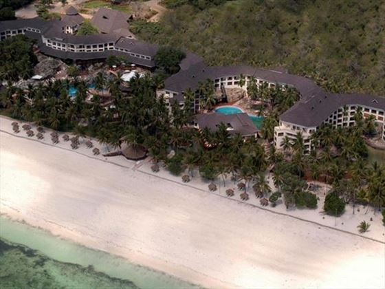 Aerial view of Diani Reef Beach Resort and Spa