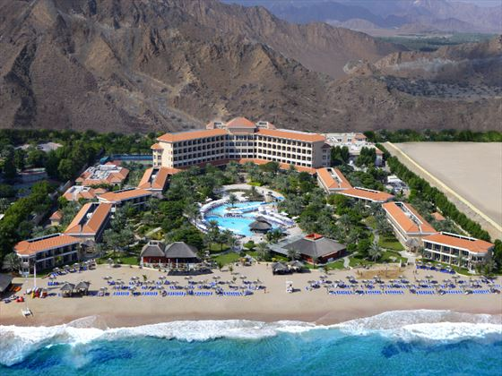 Aerial view of Fujairah Rotana Resort & Spa