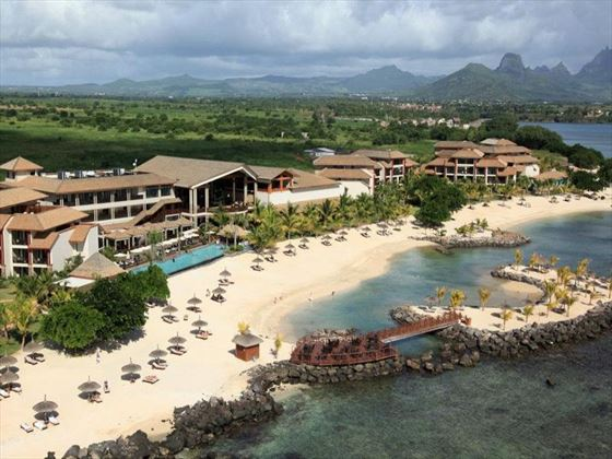 Aerial view of Intercontinental Mauritius