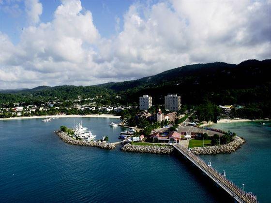 Aerial view of Jamaica