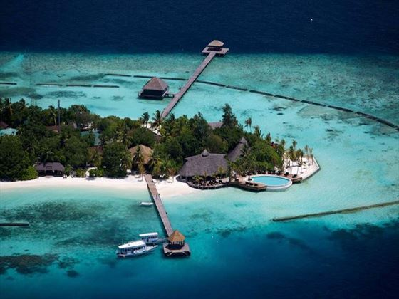 Aerial views of Komandoo Island Resort & Spa