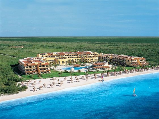 Aerial view of Secrets Capri Riviera Cancun