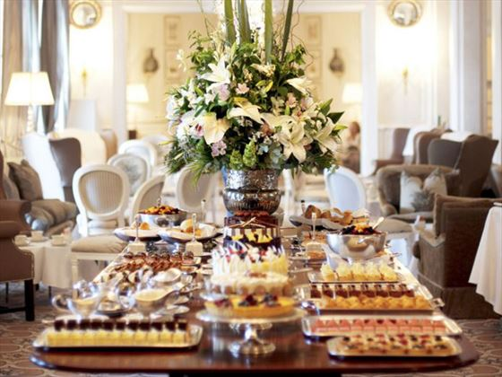 Afternoon tea at Mount Nelson, Cape Town