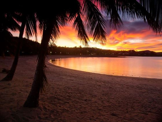 Airlie Beach at sunset