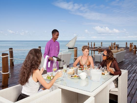 Al fresco dining at Essque Zalu Zanzibar