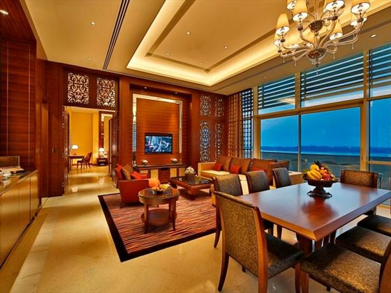 Dining area at Al Raha Beach Hotel