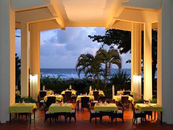Almond Tree restaurant at Amaryllis Beach Hotel