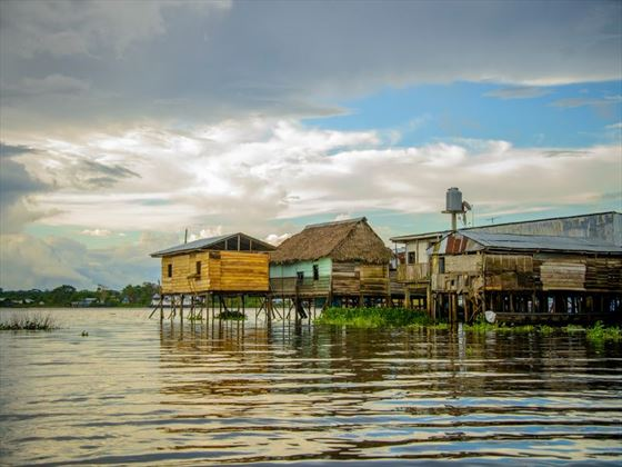 Amazon River over-water house