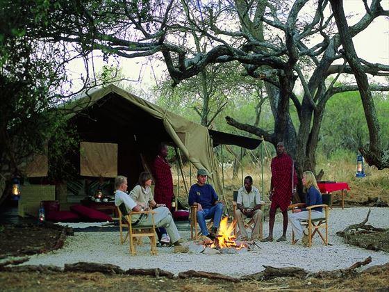 Relaxing at the mess at Amboseli Porini