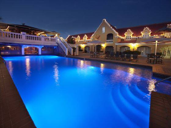 Amsterdam Manor Beach Resort pool at night