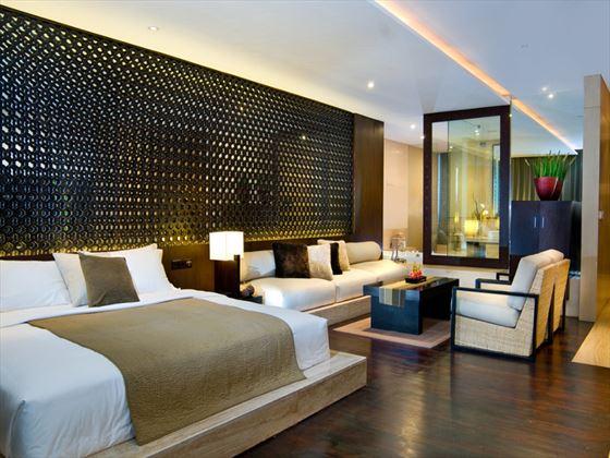 Anantara Seminyak Suite bedroom and living room area