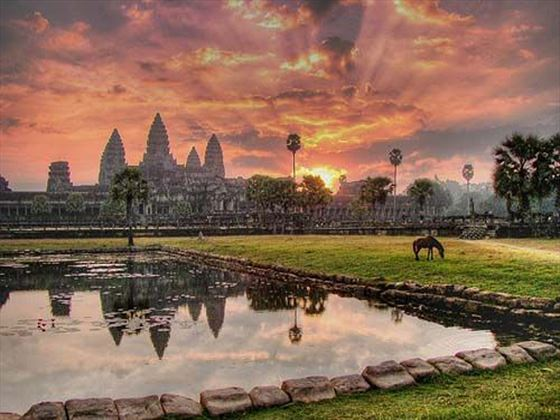 Sunset at Angkor Wat, Siem Reap